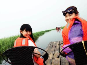 搭竹筏遊璫奈濕地