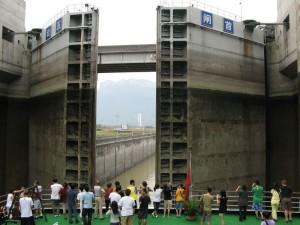 過五級船閘